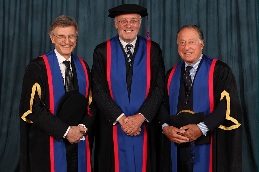 withAndrew Likierman (Dean) and John Ritblat (chair of Governors)